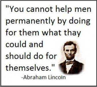 lincoln quote on welfare